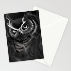 Owl Aflame Stationery Cards