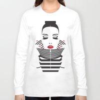 striped Long Sleeve T-shirts featuring striped by Yordanka Poleganova