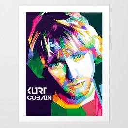 Cobain In Pop Art Art Print