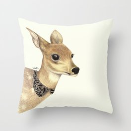 Fancy Deer Throw Pillow