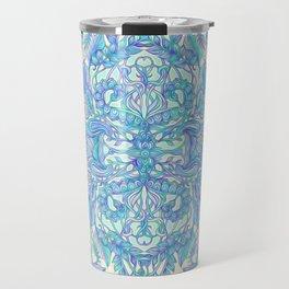 Lilac, Mint & Aqua Art Nouveau Pattern Travel Mug