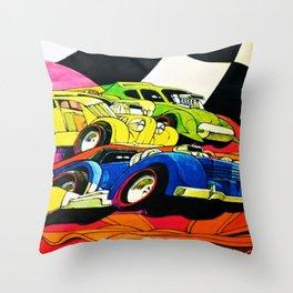 1971 Hot Wheels Redline Poster with Custom Cord Redline Throw Pillow