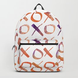 xoxo Watercolor Purple Orange Backpack