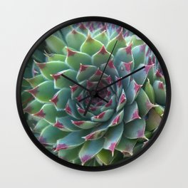 Succulent crowd Wall Clock