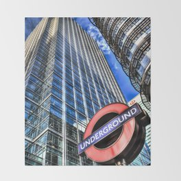 Canary Wharf  London Throw Blanket