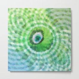 Green sphere Metal Print