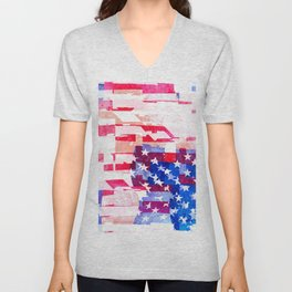 Messed Up American Flag Unisex V-Neck