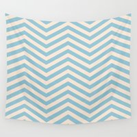 chevron Wall Tapestries featuring Chevron by Patterns and Textures