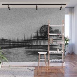 White Noise Santa Monica Pier Wall Mural