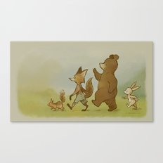 We're Off To Candlemoon Woods Canvas Print