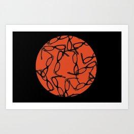 Hipster Bloodbath Art Print