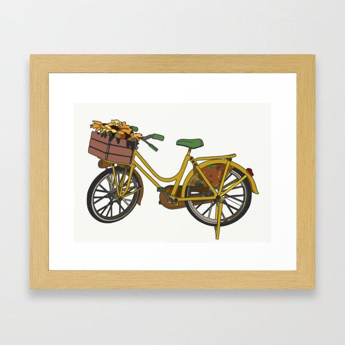A Bike in Amsterdam Framed Art Print