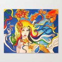 destiny Canvas Prints featuring Destiny by Ming Myaskovsky