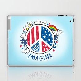 Imagine Love Imagine Peace Laptop & iPad Skin