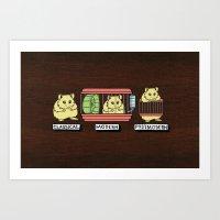 hamster Art Prints featuring hamster by tavislea