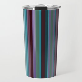 Retro Stripe in Blueberries and Orchids Travel Mug