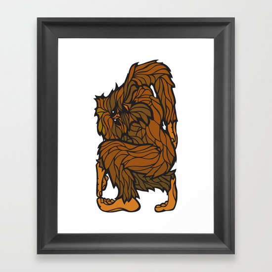 Squatch Framed Art Print