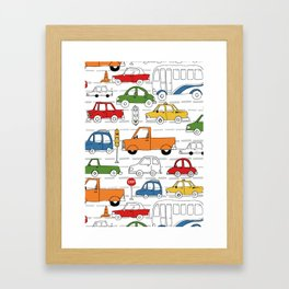 Busy Traffic Pattern Framed Art Print