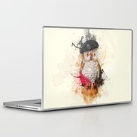 spain Laptop & iPad Skins featuring Spain Owl by Msimioni