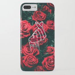 Love Finger Snap Roses iPhone Case
