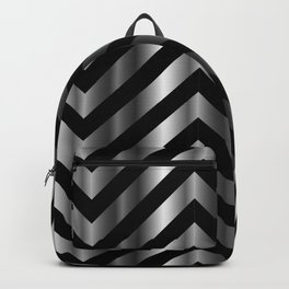 High grade raw material stainless steel and black zigzag stripes Backpack