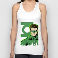 green lantern Tank Tops featuring Green Lantern by J. J.