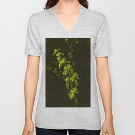 Wildflower Painting from the Late Nineteenth Century Recolored Unisex V-Neck