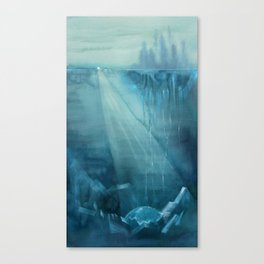 Earth-Birth - Ink wash painting Canvas Print