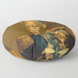 Morgan Freeman - replaceface Floor Pillow
