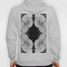 Hibiscus In Black & White Hoody