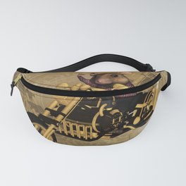 Funny mouse on a motorcycle Fanny Pack