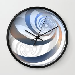 loxodrome - lightblue Wall Clock