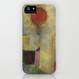 Red Balloon by Paul Klee iPhone Case