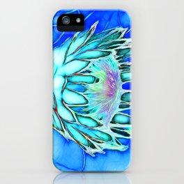 Telopea in blue iPhone Case