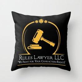 D&D - Rules Lawyer Throw Pillow