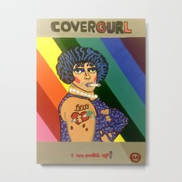 Covergurl Metal Print
