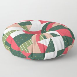 Traditional Xmas Quilt Floor Pillow