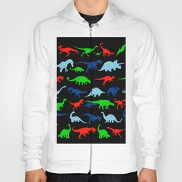 vector set silhouettes of dinosaur Hoody