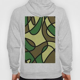 Camo Curves - Abstract, camouflage coloured pattern Hoody