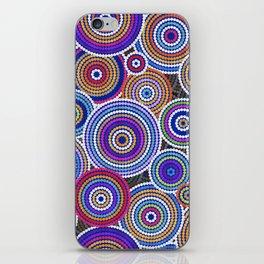 Colorfull Aboriginal Dot Art Pattern iPhone Skin