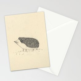 Monochrome Hedgehog Stationery Cards