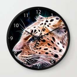 Leopard  lines ,Leopard  painting Wall Clock