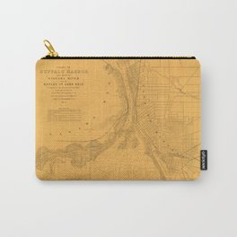 Map of Buffalo 1856 Carry-All Pouch