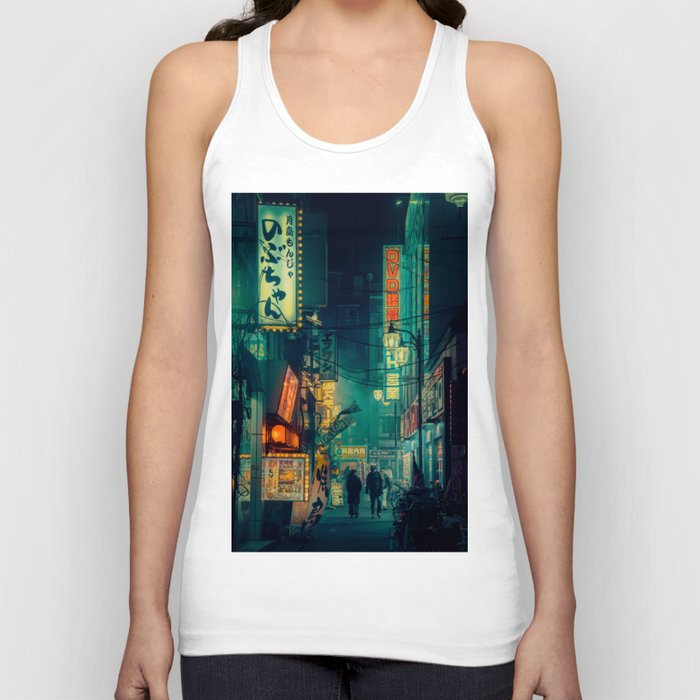 Tokyo Nights / Memories of Green / Blade Runner Vibes / Cyberpunk / Liam Wong Unisex Tanktop