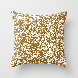 Small Spots - White and Golden Brown Throw Pillow