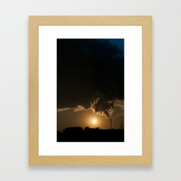 Communicative pollution Framed Art Print