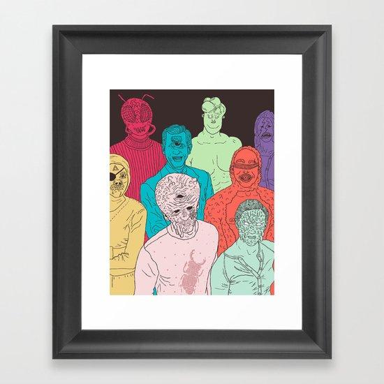 Friends of Beetleman Framed Art Print