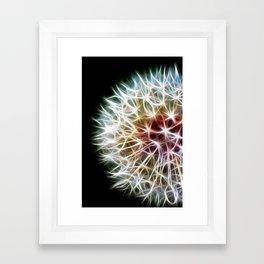 Fractal dandelion Framed Art Print