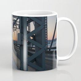 sunset on the bridge Coffee Mug