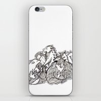 wolves iPhone & iPod Skins featuring Wolves by Freja Friborg